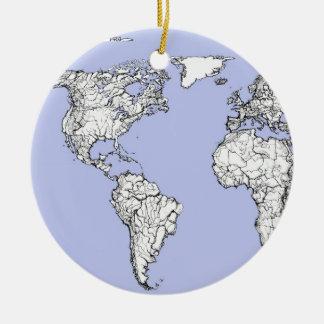 pale blue atlas round ceramic decoration