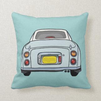 Pale blue cartoon car cushion pillow