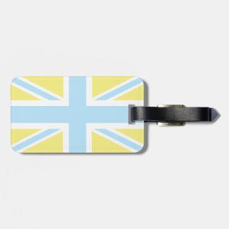 Pale Blue Classic Union Jack British(UK) Flag Bag Tag