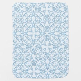 Pale Blue Damask Baby Blanket