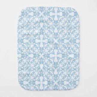 Pale Blue Damask Burp Cloth