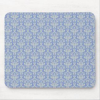 Pale Blue damask Mouse Mat