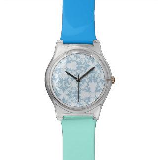 Pale Blue Damask Wristwatches