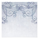 Pale Blue Denim Swirls Customisable Invitations