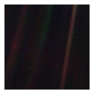 Pale BLue Dot Poster