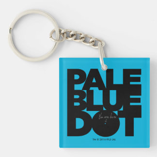 Pale Blue Double-Sided Square Acrylic Key Ring