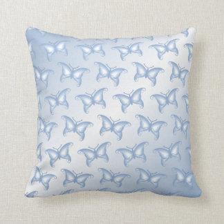 Pale Blue Fantasy Butterflies Cushion
