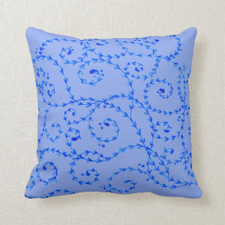 "Pale Blue floral pattern- 16"" x 16"" pillow"