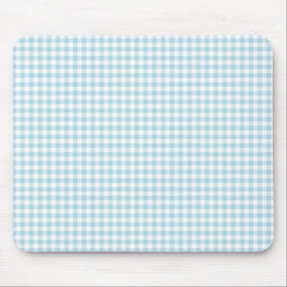 Pale Blue Gingham Mouse Pad