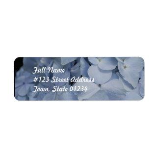 Pale Blue Hydrangea Return Address Label