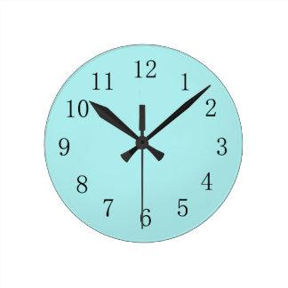 Pale Blue Kitchen Wall Clock
