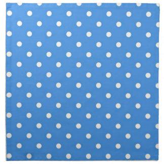 Pale Blue Polka Dot Art Napkins