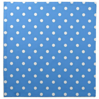 Pale Blue Polka  Dot Art Printed Napkin