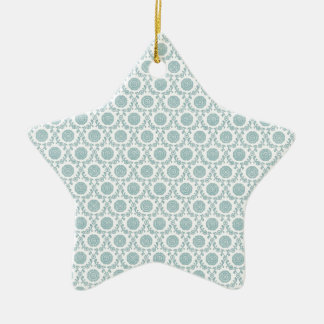 Pale Blue Retro Art Christmas Ornament