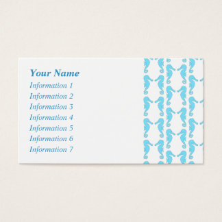 Pale Blue Seahorse Pattern Business Card