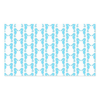 Pale Blue Seahorse Pattern Pack Of Standard Business Cards