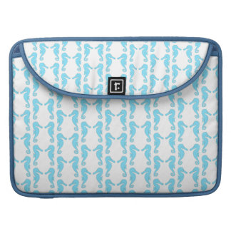 Pale Blue Seahorse Pattern Sleeve For MacBook Pro