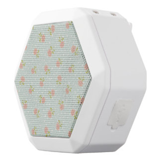 pale blue shabby chic polka dot white pink floral white boombot rex bluetooth speaker