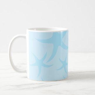 Pale Blue Starfish Pattern. Coffee Mug