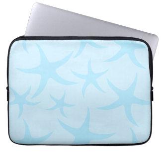 Pale Blue Starfish Pattern. Laptop Sleeve