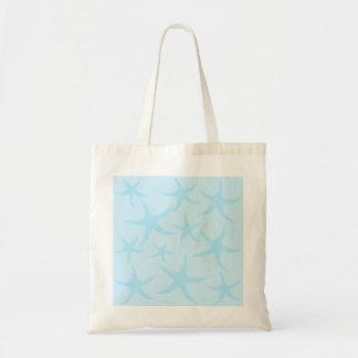 Pale Blue Starfish Pattern. Tote Bag