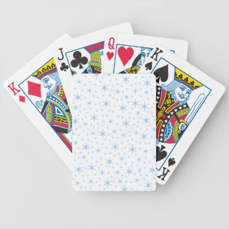 Pale Blue Stars Pattern. Bicycle Playing Cards