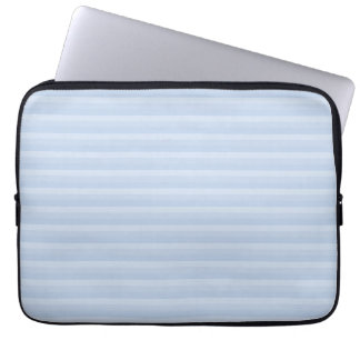 Pale Blue Stripes. Laptop Sleeve