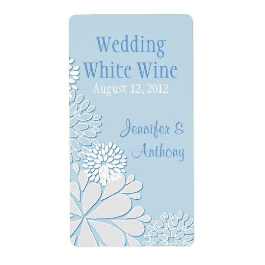 Pale Blue Stylish Chrysanthemum Wedding Mini Wine