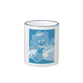 Pale Blue Teddy Bear for Boys Mugs