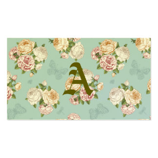 pale blue,vintage,floral,butterfly,victorian,cute, pack of standard business cards