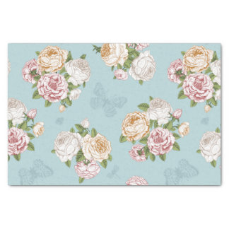 pale blue,vintage,floral,butterfly,victorian,cute, tissue paper