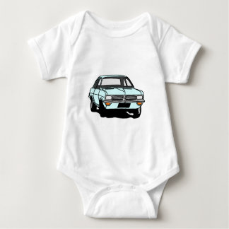 Pale Blue Viva Baby Bodysuit