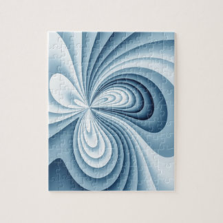 Pale Blue Waves Jigsaw Puzzle