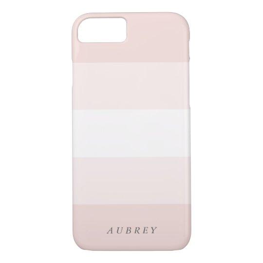 Pale Blush Pink Gradient Colorblock iPhone 7 Case