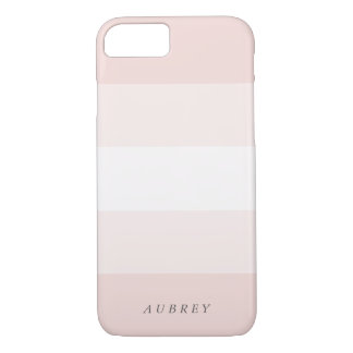 Pale Blush Pink Gradient Colorblock iPhone 8/7 Case
