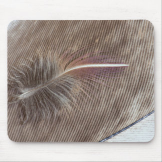 Pale Brown Feather Still Life Mouse Pad
