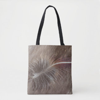 Pale Brown Feather Still Life Tote Bag