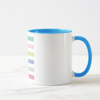 Pale Coloured Stripes Mug