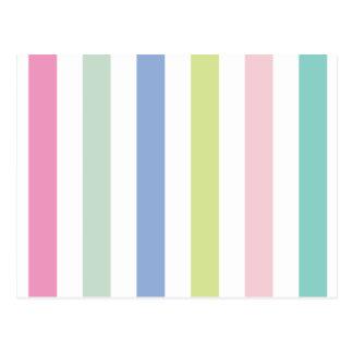 Pale Coloured Stripes Postcard