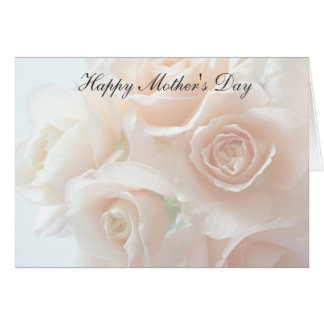 Pale coral roses Mother's Day Greeting Card