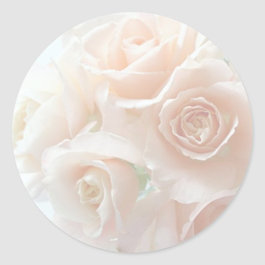 pale coral roses stickers