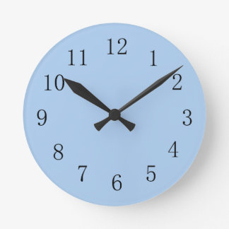 Pale Cornflower Blue Kitchen Wall Clock