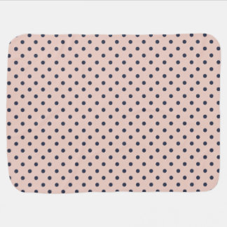 Pale Dogwood with Niagara Blue Polka Dots Buggy Blanket
