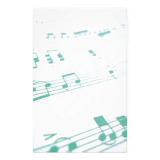 Pale Faded Blue Sheet Music Photography Customised Stationery