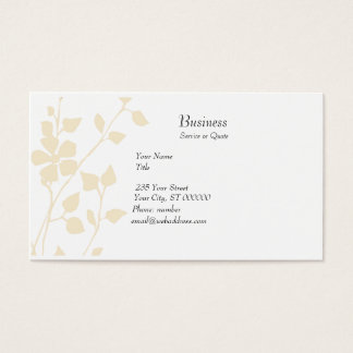 Pale Floral Extravaganza Soft Pastel Business Card
