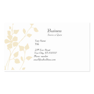 Pale Floral Extravaganza Soft Pastel Pack Of Standard Business Cards