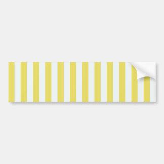 Pale Gold And White Stripes Bumper Sticker