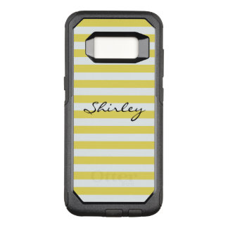 Pale Gold and White Stripes by Shirley Taylor OtterBox Commuter Samsung Galaxy S8 Case