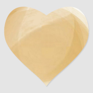 Pale gold planet heart sticker