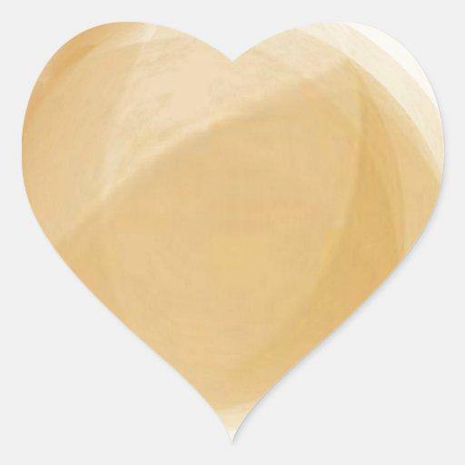 Pale gold planet heart sticker